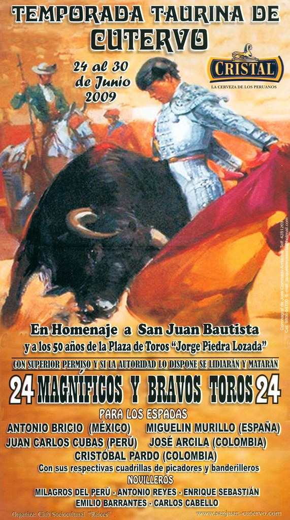 Cartel de Cutervo 2009