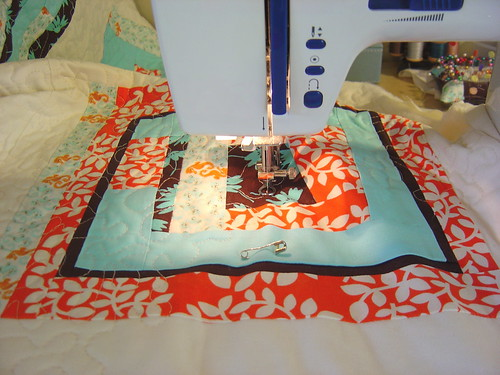 Quilting my Block Party quilt