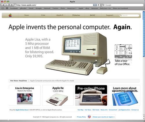 Apple.com, circa 1983.