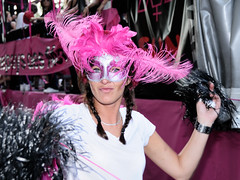 Gay Pride 2009  Paris - Char Dollhouse/Babydoll (Thibault Dangraux) Tags: pink people woman paris france june rose geotagged juin mask walk femme parade lgbt disguise babydoll carnaval gaypride manifestation dollhouse masque reportage dfil dguisement fierts gaypride2009