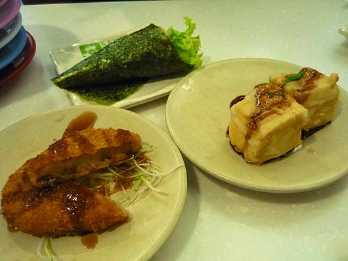 croquette and agedashi tofu