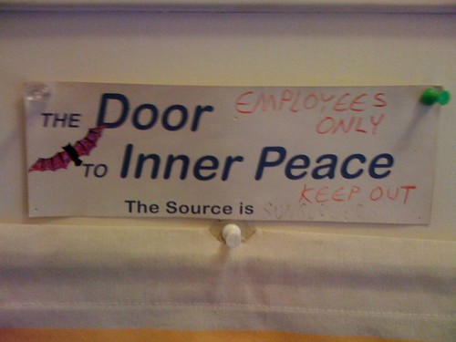 The Door to Inner Peace: EMPLOYEES ONLY!