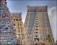 Raja Gopuram (Prabhu B Doss) Tags: india color architecture temple carved nikon vishnu