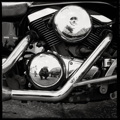 85930029 (Nasey) Tags: blackandwhite reflection 6x6 film bike mediumformat square blackwhite engine machine hasselblad transportation malaysia motorcycle vulcan bnw kawasaki terengganu 500cm carlzeiss kualaterengganu selfdevelopment 80mmf28 ilforddeltapro100 nasey nasirali planarct