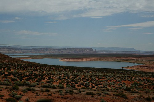 Lake Powell, taken from the passenger seat of the car on the way to Salt Lake City the first day of our road trip.
