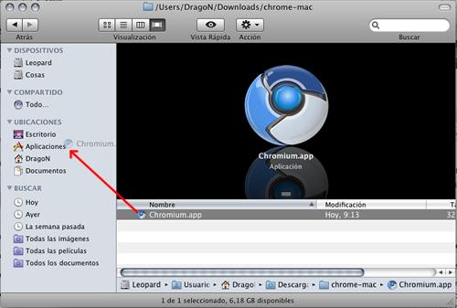 Instalar Google Chrome en Mac OS X