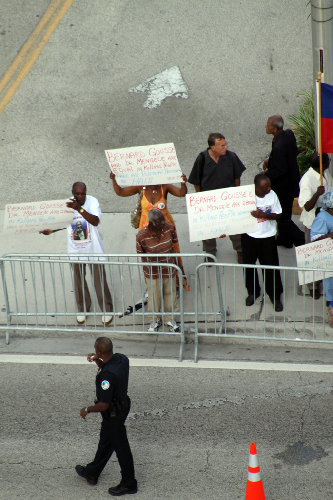 Florida - Miami North -  - Haitian protest (2)