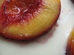 Peaches in batter