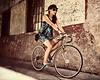 (Stromboly) Tags: street girl fashion bike wheel lady vintage mexico movement dress legs centro moda bicicleta chic velocidad llantas bycicle historico bestportraitsaoi