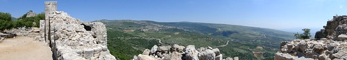 Panorama from Nimrod Fortress - Israeli-Annexed Golan Heights - 02