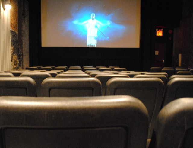 Creepy movie theater