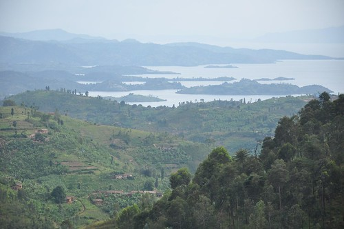 Looking down to Lake Kivu