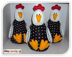 Cocoric (mfuxiqueira) Tags: de galinha felt da porta feltro decorao peso angola galinhas fieltro encomendas dangola