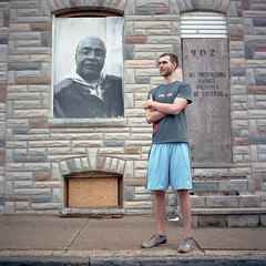Ryan LeCluyse (patrickjoust) Tags: street city portrait people urban usa house color abandoned 120 6x6 tlr film home analog america project square lens person us reflex md focus mechanical kodak ryan empty united north middleeast patrick twin maryland row baltimore east mat v 124g vacant pro epson medium format states manual 500 middle expired 80 joust madeira yashica rowhouse rowhome estados 160 80mm f35 c41 unidos yashinon v500 ektacolor lecluyse autaut rebuld patrickjoust ebdi eastbaltimoredevelopmentinc
