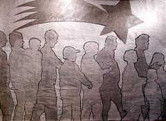 seguitemi (magicoda) Tags: bw art arte drawing peinture draw disegno presepio acrilico pittura profili sagome siluettes cartadigiornale magicoda davidemaggi maggidavide
