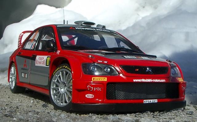 2005 10 rally montecarlo wrc lancer mitsubishi 118 autoart wrc05 panizzi