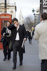 Business Man and his paper (Daniel Hodson) Tags: uk people london dan canon person workmen traffic unitedkingdom daniel candid aib peter cry canoneos350d sneeze freelance recession hodson conjestion visualcommunication artsinstitutebournemouth danielpeterhodson danielhodson theartsinstitutebournemouth httpwwwdanielhodsoncouk