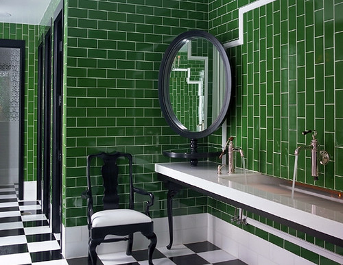 Kelly Wearstler Green Bathroom
