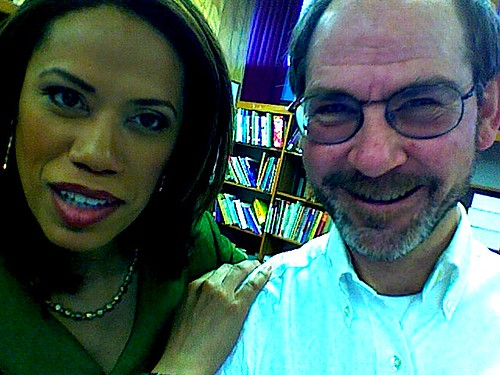 CBS3 + CW57 TV  Broadcaster Natasha Brown poses for a MacBook ISight Photograph with and by Brian Rudnick on a Career Day Visit to J.S. Jenks Elementary School