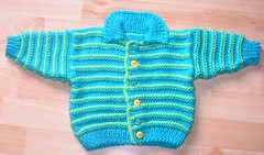 Dean's Striped Cardigan (regulli) Tags: baby sweater knitting cardigan striped