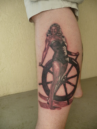Rita Hayworth pinup tattoo 2
