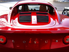 Red Elise, rear view (Richard Wintle) Tags: toronto ontario canada photoshop cs2 lotus elise hdr dupontstreet gentrylane