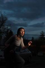 Sneaking past the darkness (reelgeek) Tags: portrait night clouds dark spooky locationshots strobist erincaton reelgeekfp