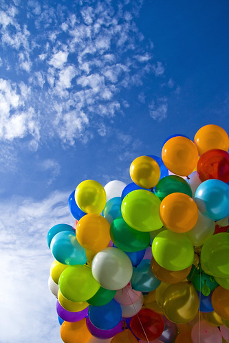 the colourfulation of balloons