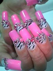 PinkyZebra (Pinky Anela) Tags: pink japan tokyo nail zebra nailart japanesenails