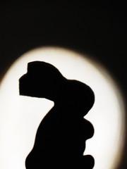 playboy (hockberg99) Tags: shadow blackandwhite bw rabbit bunny silhouette toy magic spotlight foam playboy theshadows bunnyrabbit stagelight kuneho