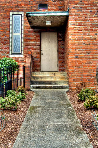 A side door at the Immaculate Conception Church in Stayton Oregon
