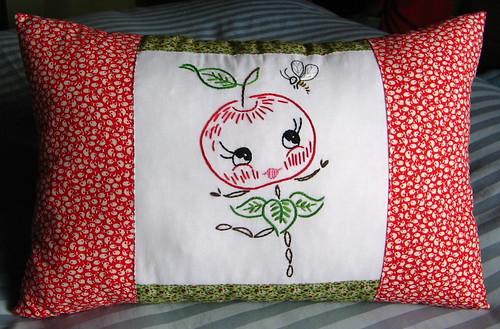 happy apple pillow