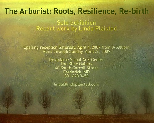 The Arborist Exhibition show flyer