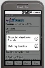 fourdroid = foursquare for android