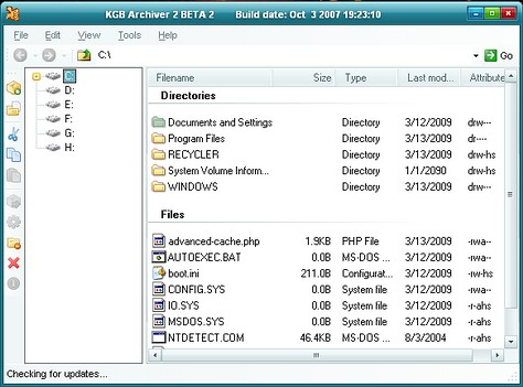 Most powerful file compression software: KGB Archiver