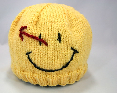 1496d0a0be6 MyJewelThief Knits  Watchmen Comedian Smiley Face Hat Pattern