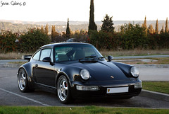 Porsche 964 Turbo 3.6 (calians.sevan) Tags: world auto new trip light sunset sea urban black france color art cars love beautiful car wheel sport speed canon wow french fun photography photo marseille amazing nikon focus europe flickr pretty shoot noir photographer photoshoot flat image photos wheels 911 performance dream automotive spot exotic turbo photograph porsche nikkor fabulous total rim rims 36 2008 technique luxury rare 2009 supercar luxe spotting 2007 vitesse artisitic vehicule 964 carspotting 965 sevan flat6 d80 calians