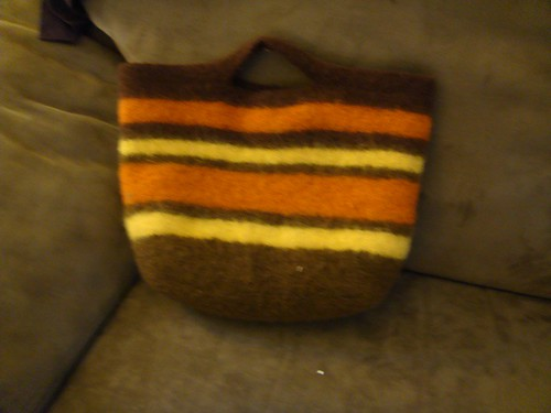 My sweet new felted bag