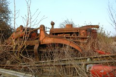 Ruston Bucyrus bulldozer (fryske) Tags: abandoned rust rusty lorry scrapyard scrap derelict