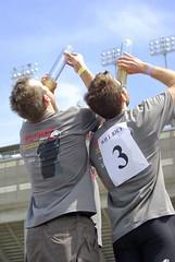 Victory Chug II (AlphaTangoBravo / Adam Baker) Tags: beer bike race university rice wrc 2009 chug beerbike wrcsweep httprpcriceedubeerbike httpchroniclecomtempemail2phpidqzrn8wy4xqnzcdmnsvpzxrxs6bqkcnsh httpwwwjencoopercomjencooperwrcalumhtm httpbeerbikecomwp willricewillsweep