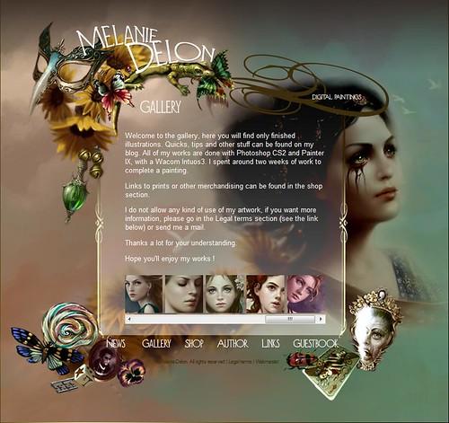 Melanie Delon website snapshot