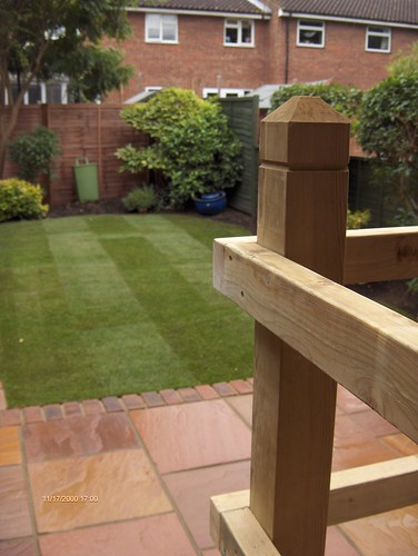 Indian Sandstone Patio and Lawn Image 28