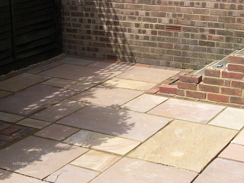 Indian Sandstone Patio and Lawn Image 13