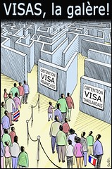 VISAS, What a Pain... (Ben Heine) Tags: voyage travel people france tourism lines wall bag french thailand freedom crazy airport asia europe bangkok alien crowd cost file tourist embassy luggage viet queue thai maze asie mad foreign expensive laos monde administration mur mythology immigration visa nationalism valise schengen gavroche faraway drapeaux politicalart crowdy labyrinthe procedures minotaure benheine fouleflags