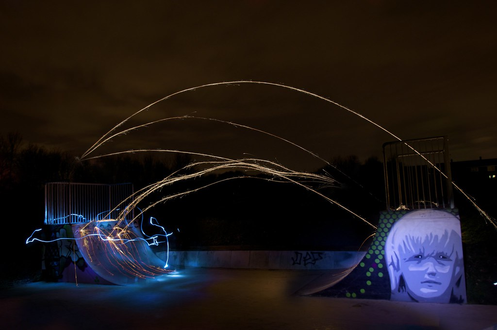 3382968017 7d1ef7f060 b Skatepark Light Graffiti Art