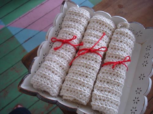 Paninhos de crochê