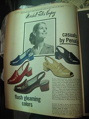 flash gleaming colors (mod as hell) Tags: shoes magazines marshallfields vintageads