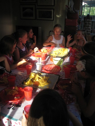 Chloe's 9th Birthday Party dinner