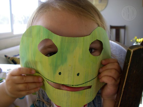 a frog mask!