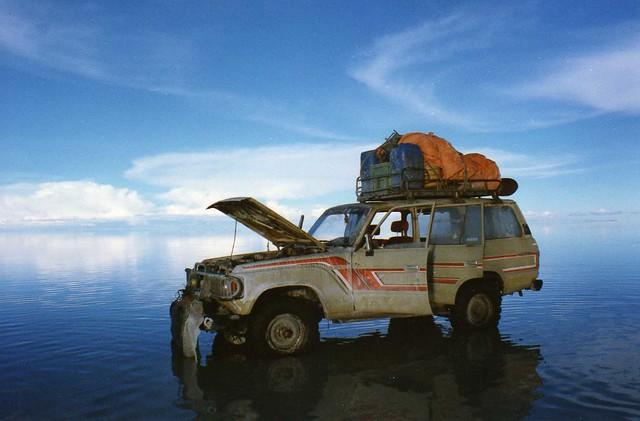 The jeeps sometimes break down ...